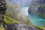 One of the Branches of the Seven Sisters Waterfalls  Above the Geirangerfjorden  Norway