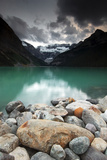 A Pile of Smooth Rocks on the Shore of Lake Louise in Banff National Park