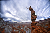 Two People Base Jump from Ancient Art at Fisher Towers