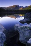 Reflection of Longs Peak in Bear Lake  Rocky Mountain National Park  Colorado
