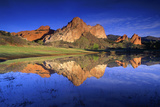 Reflection of Rock Formations in Lake  Garden of the Gods  Colorado