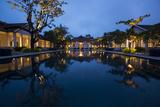 A Hotel in Luang Prabang at Night