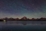 The Night Sky over Jackson Lake Dam