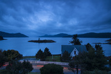 One of the San Juan Islands at Twilight