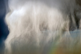 Extreme Close Up of a Large Hail Shaft Produced by a Thunderstorm