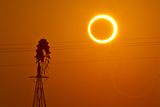 Annular Solar Eclipse and Windmill in New Mexico