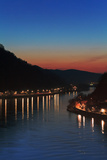 Mercury Shines in the Fading Glow of Dusk over the Danube River
