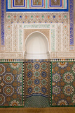 Intricate Tile Mosaics in an Alcove at the Mausoleum of Moulay Ismail