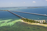 Aerial View of the Famous Tourist Destination Bahia Honda Bridge and State Park