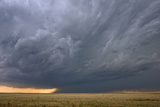 A Supercell Thunderstorm Rotates over a Vacant Field