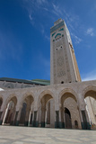 A Low Angle View of the World's Tallest Minaret at Hassan Ii Mosque