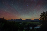 The Night Sky over the Grand Teton National Park and the Snake River