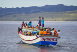 Locals Take a Water Taxi Boat from Island to Island in the Batanes