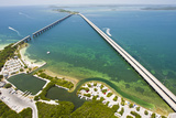 Aerial of the Overseas Highway and Entrance to Bahia Honda Bridge and State Park