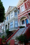 Colorful Victorian Homes in the Haight-Ashbury District of San Francisco  California