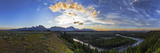 Sunset at the Grand Teton National Park and the Snake River