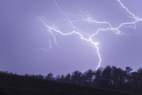 Lightning Wriggles across the Sky and Strikes the Ground