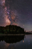 The Milky Way Appears in Constellation Scorpius and Sagittarius over the The Jackson Lake Dam