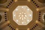 A View of a Chandelier Hanging from a Dome Inside the Sultan Qaboos Grand Mosque