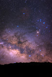The Bright Central Bulge of the Milky Way and Constellations over La Palma