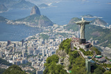 Aerial of the Christ the Redeemer Statue Overlooking Rio De Janeiro