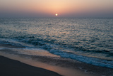 Sunset in Ras Al Hadd  Oman  and the Junction of the Gulf of Oman and Arabian Sea