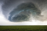 A Supercell Thunderstorm Rotates over Cropland