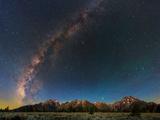 The Night Sky over the Teton Mountains