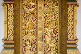 Gilded Wall Carvings at Wat Xieng Thong Monastery