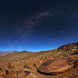 The Milky Way Above an Ancient Petroglyph in the Desert