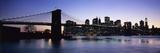 Sunset over Lower Manhattan and Brooklyn Bridge