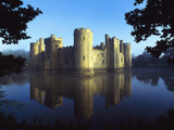 The Majestic Bodiam Castle and its Reflection in Surrounding Moat