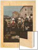 Portrait of Peasant Women and Girls at the Market in Mezokovesd