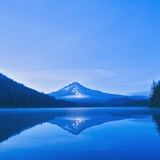 Oregon  United States of America; Mt Hood Reflected into Trillium Lake