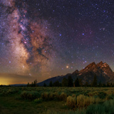 The Milky Way over the Teton Range
