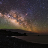 The Arc of the Milky Way Rises Above the Shores of the Atlantic Ocean