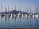 Yachts Docked in the Harbor; Gocek  Mugla Province  Turkey