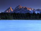Jackson Lake and Tetons at Sunrise  Grand Teton National Park  Wyoming