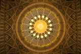 The Chandelier Above the Praying Hall Inside the Sultan Qaboos Grand Mosque  from Directly Below