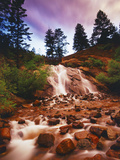 Helen Hunt Falls at Sunset  North Cheyenne Canyon Park  Colorado Springs