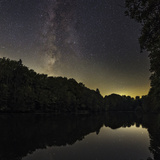 The Milky Way over a Lake in Central Germany  Near the Town of Lich