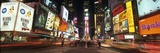 Times Square in Midtown Manhattan Illuminated at Night
