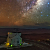 The Milky Way in the Constellation Sagittarius Above the Cerro Paranal Observatory