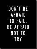 Dont Be Afraid to Fail