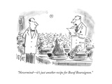 """Nevermind—it's just another recipe for Boeuf Bouruignon"" - Cartoon"