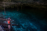 Snorkeling Cenote Cavern at Tulum Cancun Traveling through Mexico
