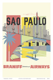 Sao Paulo  Brazil - Braniff International Airways