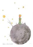 Le Petit Prince et son Asteroide Sérigraphie par Antoine De Saint Exupery