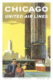 Chicago  USA - Marina City  Chicago River - United Air Lines
