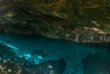 Panorama  Snorkeling Cenote Cavern at Tulum Cancun Traveling through Mexico